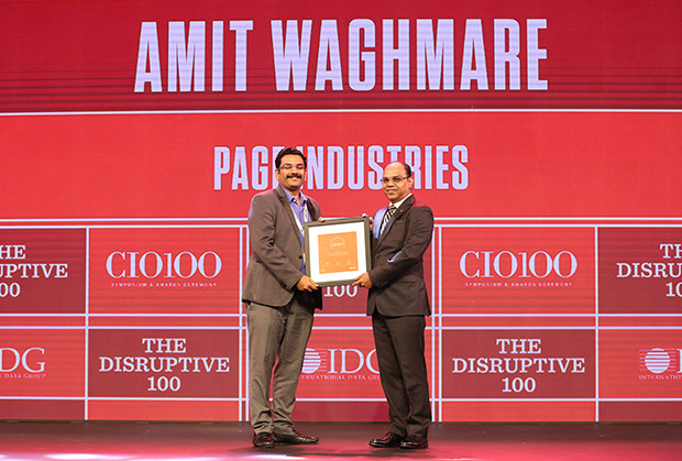 The Disruptive 100: Amit Waghmare, GM-IT, Page Industries receives the CIO100 Award for 2019