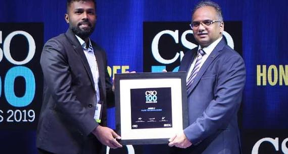 John Joseph, CISO of YASH Technologies, receives the CSO100 Award for 2019
