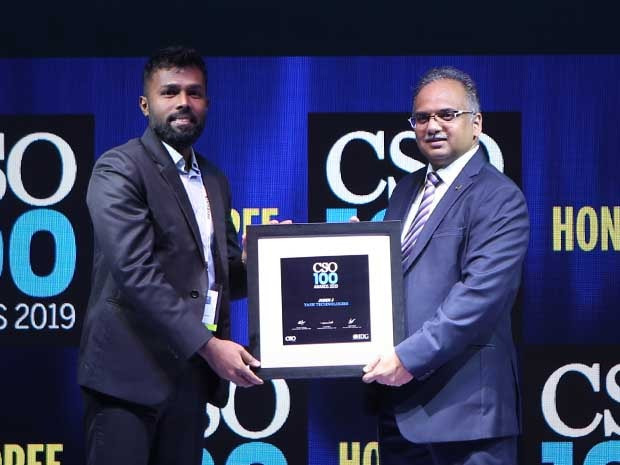 John Joseph, CISO of YASH Technologies, receives the CSO100 Award for 2019
