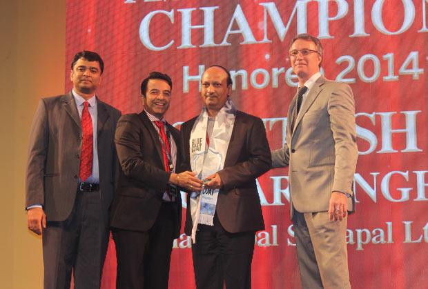 Business Assurance Champion: Person, designation of company receives the CIO100 Special Award for 2014, constituted in association with Blue Coat