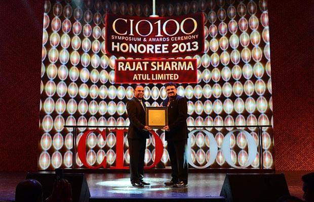 The Astute 100: Rajat Sharma, President-IT of Atul receives the CIO100 Award for 2013