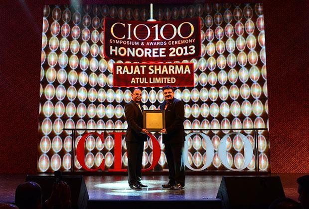 The Astute 100: Rajat Sharma, President-IT of Atul receives the CIO100 Award for 2013