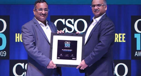 Dr. Pawan Kumar Sharma, CISO of Tata Motors receives the CSO100 Award for 2019