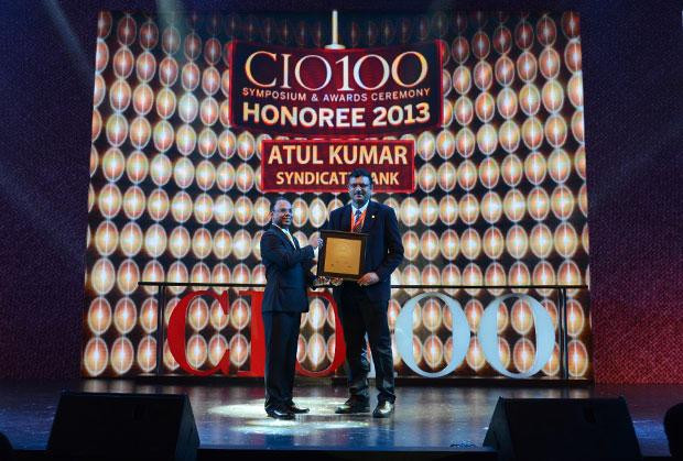 The Astute 100: Atul Kumar, GM - IT of Syndicate Bank receives the CIO100 Award for 2013