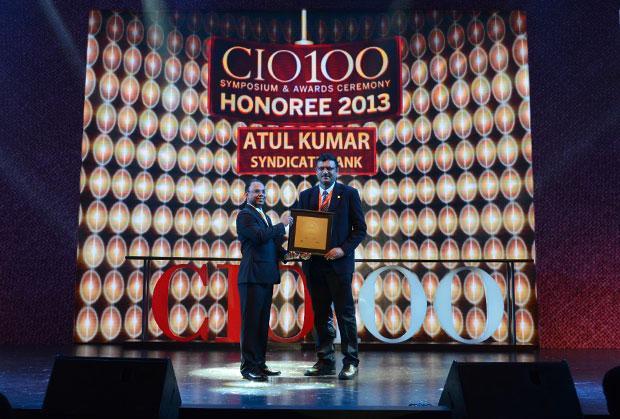 The Astute 100: Atul Kumar, GM - IT of Syndicate Bank receives the CIO100 Award for 2013
