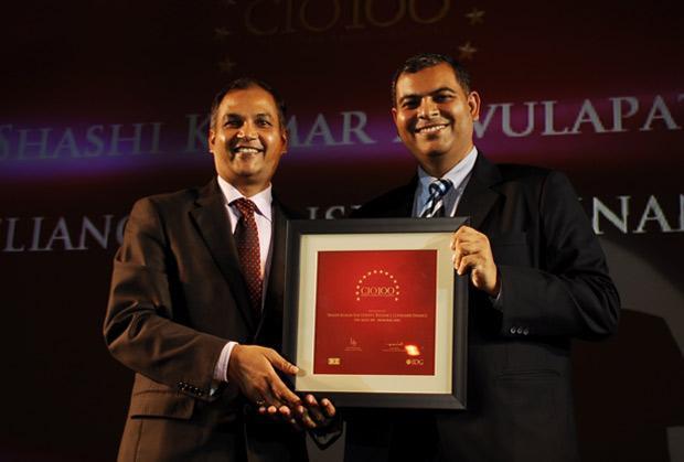 The Agile 100: Shashi Kumar Ravulapaty, Sr. VP & CTO of Reliance Capital receives the CIO100 Award for 2010
