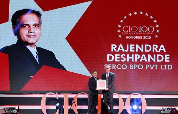 The Versatile 100: Rajendra Deshpande, CIO-SGS of Serco Global Services receives the CIO100 Award for 2015