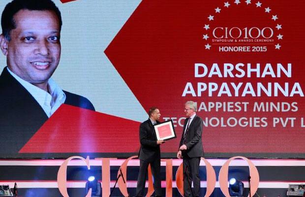 The Versatile 100: Darshan Appayanna, CIO at Happiest Minds Technologies receives the CIO100 Award for 2015