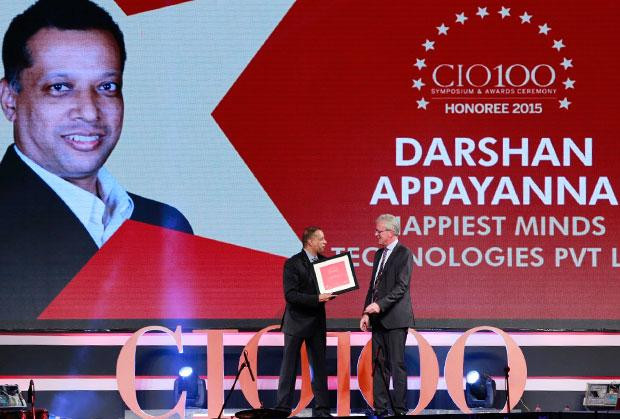 The Versatile 100: Darshan Appayanna, CIO at Happiest Minds Technologies receives the CIO100 Award for 2015