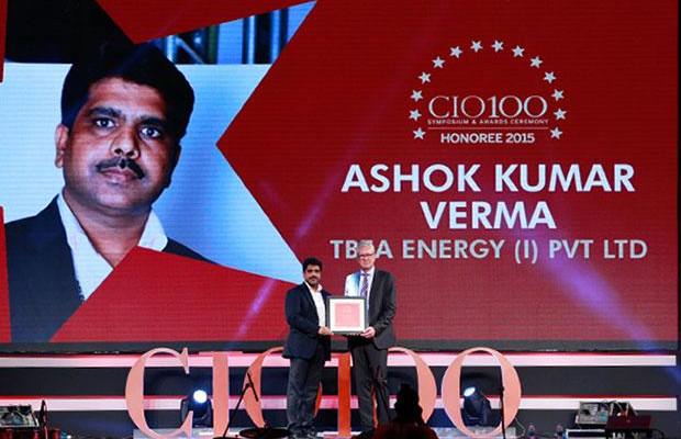 The Versatile 100: Ashok Kumar Verma, IT Head of TBEA Energy (India) receives the CIO100 Award for 2015