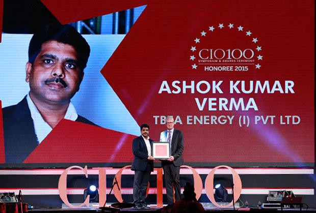 The Versatile 100: Ashok Kumar Verma, IT Head of TBEA Energy (India) receives the CIO100 Award for 2015