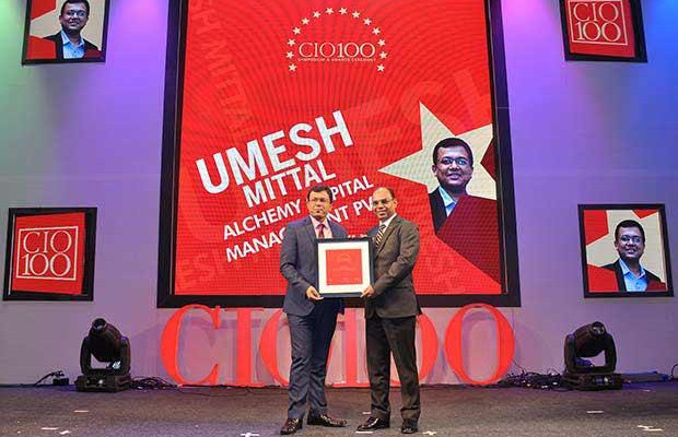 The Transformative 100: Umesh Mittal, Group Head-IT of Alchemy Capital Management receives the CIO100 Award for 2016