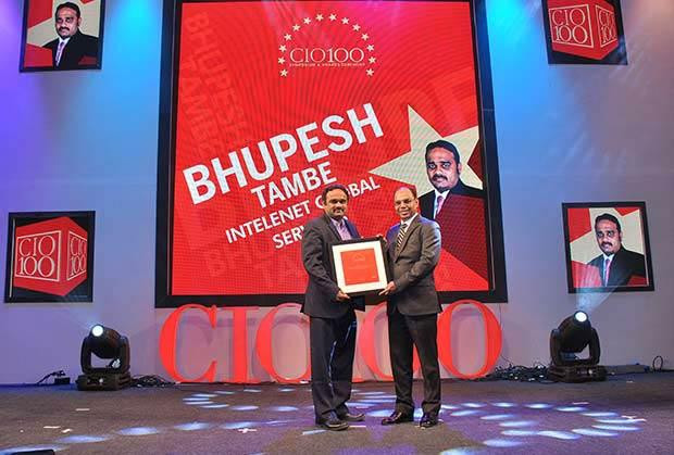 The Transformative 100: Bhupesh Tambe, Director-IT at Intelenet Global Services receives the CIO100 Award for 2016