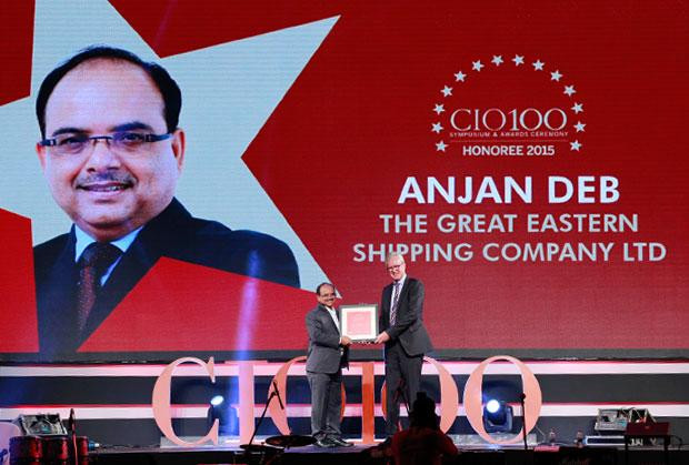 The Versatile 100: Anjan Deb, Head-IT of The Great Eastern Shipping Co receives the CIO100 Award for 2015
