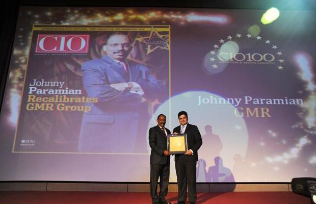 The Creative 100: Johny Paramian, Group CIO of GMR Group receives the CIO100 Award for 2011