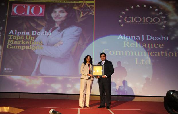 The Creative 100: Alpna Doshi, CIO of Reliance Communications receives the CIO100 Award for 2011