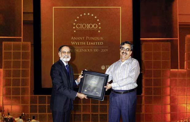 The Ingenious 100: Anant Pundlik, IT Director of Wyeth receives the CIO100 Award for 2009