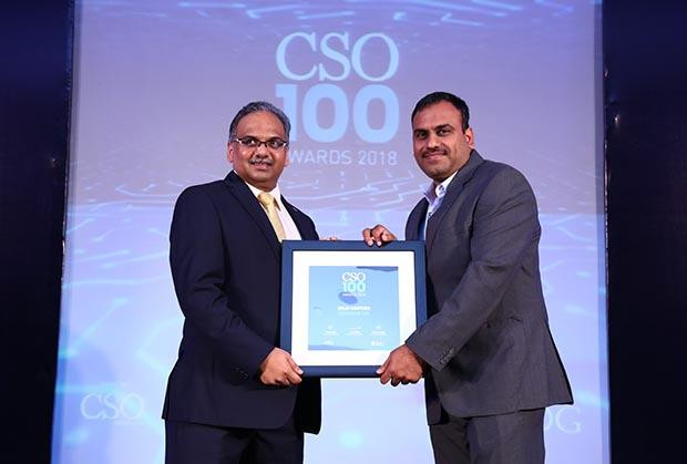 Shiju Rawther, Head -Technology & Security of TransUnion CIBIL receives the CSO100 Award for 2018