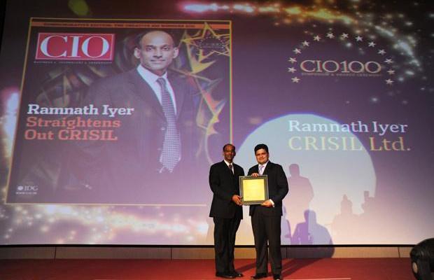 The Creative 100: Ramnath Iyer, CIO of CRISIL receives the CIO100 Award for 2011