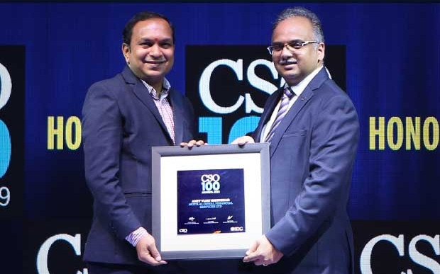 Amit Ghodekar, VP IT & Group CISO at Motilal Oswal Financial Services receives the CSO100 Award for 2019