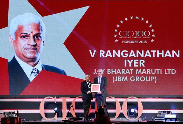 The Versatile 100: V Ranganathan Iyer, Group CIO, JBM Group receives the CIO100 Award for 2015