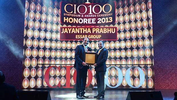 The Astute 100: Jayantha Prabhu, CTO, Essar Group receives the CIO100 Award for 2013