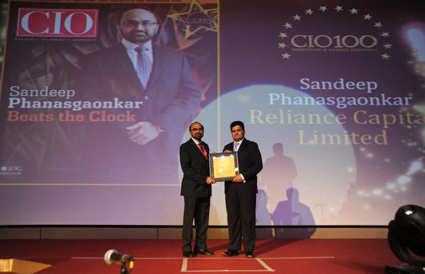 The Creative 100: Sandeep Phanasgaonkar, President & CTO of Reliance Commercial Finance receives the CIO100 Award for 2011