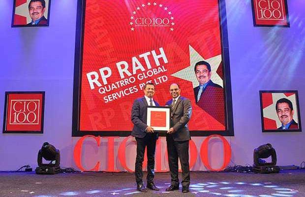 The Transformative 100: R P Rath, VP-IT of Quatrro Global Services receives the CIO100 Award for 2016