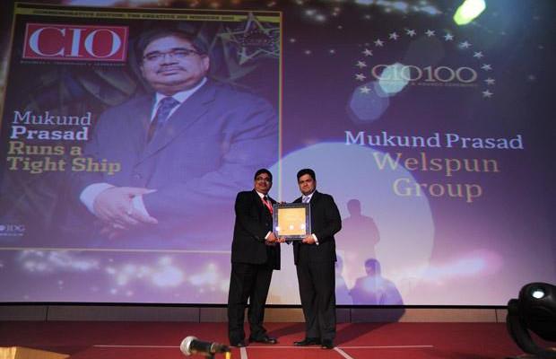 The Creative 100: Mukund Prasad, Director & Group CIO of Welspun Group receives the CIO100 Award for 2011