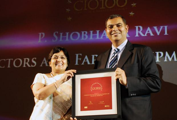 The Agile 100: Shobhna Ravi, chief information and learning officer of Tractors and Farm Equipment, receives the CIO100 Award for 2010