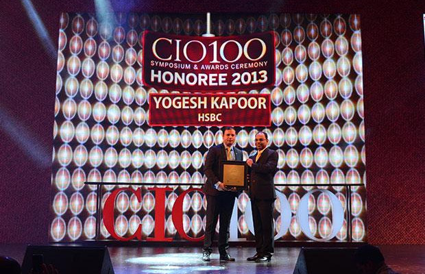 The Astute 100: Yogesh Kapoor, Head IT of HSBC Technology and Services receives the CIO100 Award for 2013