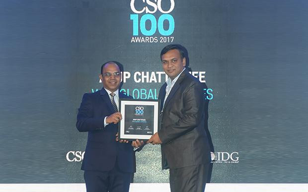 Arup Chatterjee, Chief Information Security Officer, WNS Global Services receives the CSO100 Award for 2017.