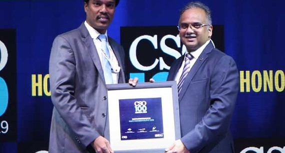 Navaneethan M, SVP & Chief Information Security Officer (CISO) & Head of IT at PayU, Naspers Group receives the CSO100 Award for 2019