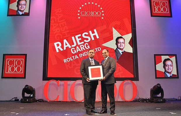 The Transformative 100: Rajesh Garg, Head IT-Transformation Solutions of Rolta India receives the CIO100 Award for 2016