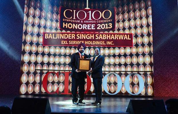 The Astute 100: Baljinder Singh, Global Head IT, EXL Services Holding receives the CIO100 Award for 2013