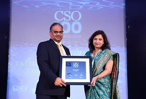 Ruby Mishra, National IT Security Officer at KPMG India receives the CSO100 Award for 2018