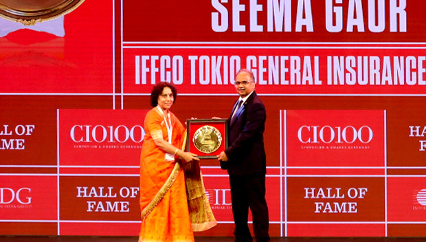 Hall of Fame: Seema Gaur, Executive Director and Head-IT, IFFCO Tokio General Insurance receives the CIO100 Special Award for 2019