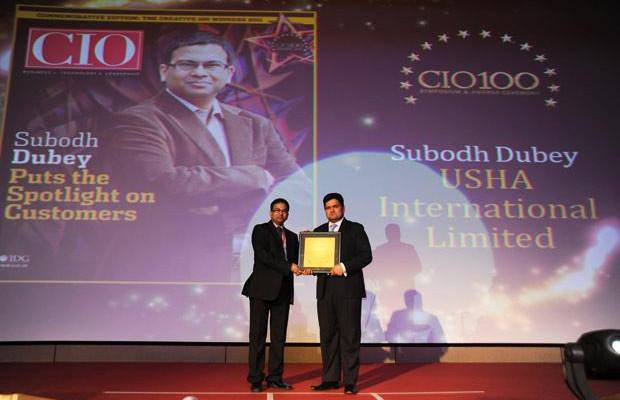The Creative 100: Subodh Dubey, Group CIO & Sr. VP- IT of Usha International receives the CIO100 Award for 2011