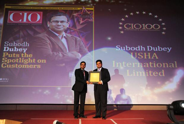The Creative 100: Subodh Dubey, Group CIO & Sr. VP- IT of Usha International receives the CIO100 Award for 2011