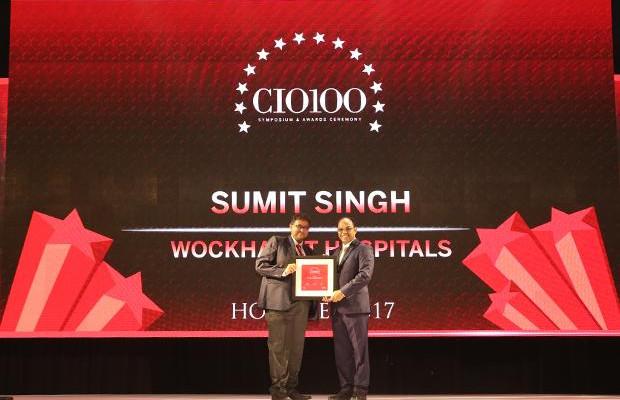 The Digital Innovators: Sumit Singh, CIO at Wockhardt Hospitals receives the CIO100 Award for 2017