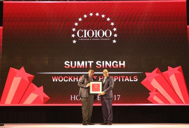 The Digital Innovators: Sumit Singh, CIO at Wockhardt Hospitals receives the CIO100 Award for 2017