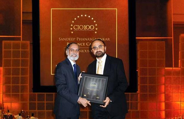 The Ingenious 100: Sandeep Phanasgaonkar, President & CTO of Reliance Commercial Finance receives the CIO100 Award for 2009