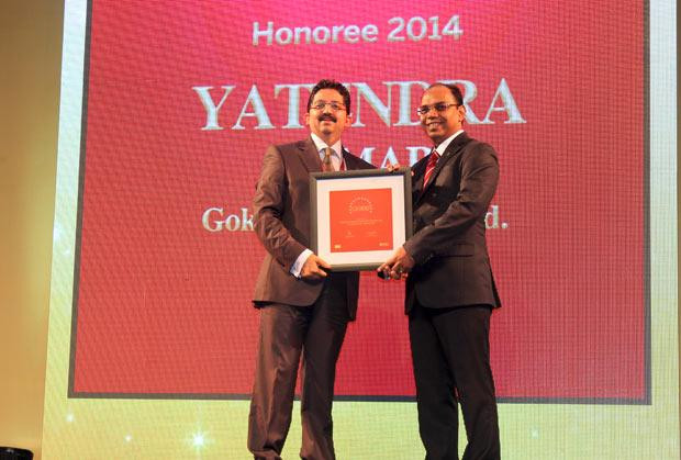 The Dynamic 100: Yatendra Kumar, Head-IT, Gokaldas Exports receives the CIO100 Award for 2014