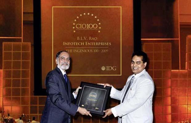 The Ingenious 100: B L V Rao, VP, Infotech Enterprise receives CIO100 Award for 2009
