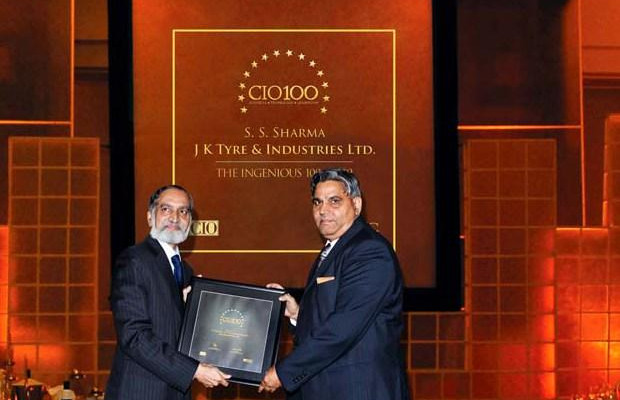 The Ingenious 100: S S Sharma, Head IT, JK Tyres and Industries receives the CIO100 Award for 2009
