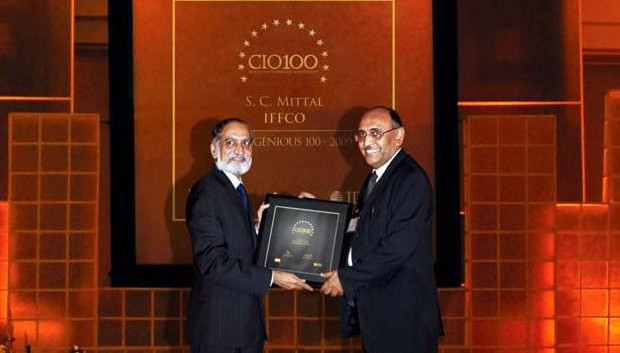 The Ingenious 100: Subhash Chand Mittal, Group CTO at Indian Farmers Fertiliser Cooperative (IFFCO) receives the CIO100 Award for 2009