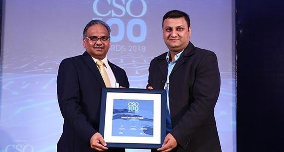Bhavesh Kumar, CISO, Hero Fincorp receives CSO100 Award for 2018