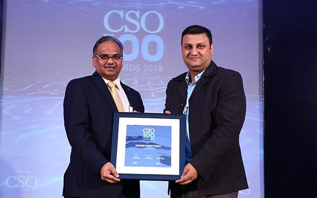 Bhavesh Kumar, CISO, Hero Fincorp receives CSO100 Award for 2018