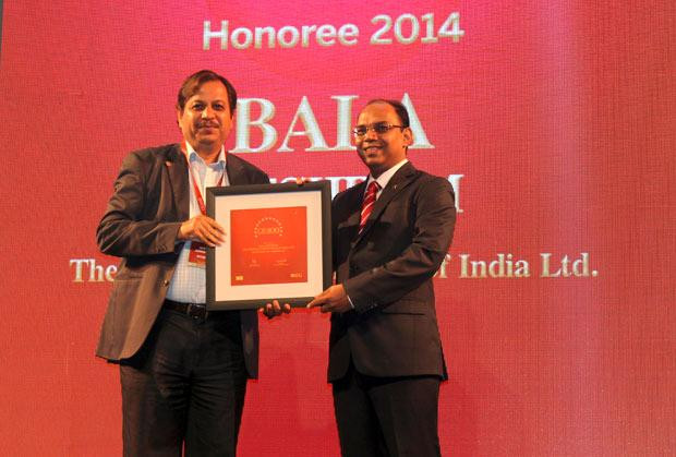 The Dynamic 100: Bala Meshram, Sr. VP & Head IT, The Shipping Corporation of India receives the CIO100 Award for 2014