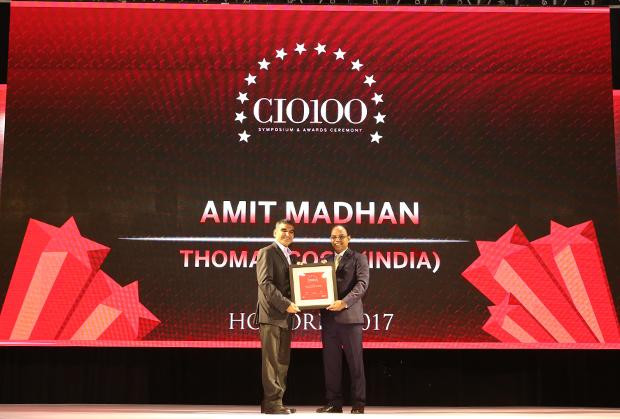 The Digital Innovators: Amit Madhan, Group Head- IT & eBusiness, at Thomas Cook India receives the CIO100 Award for 2017